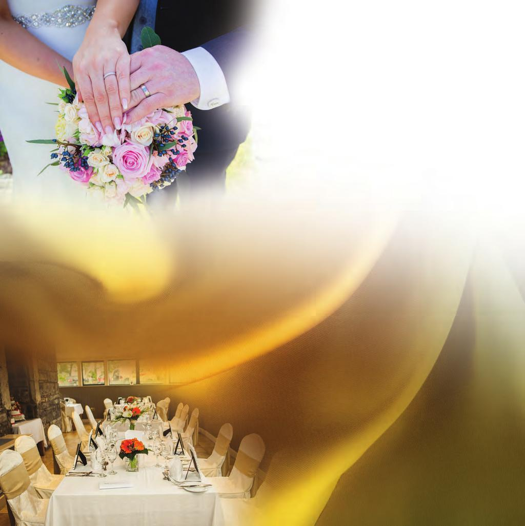 guests Beautiful table setting with chair covers and