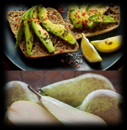 Lunch 500 Calories Turkey & Avocado Sandwich With Side Pear 2 slices of whole wheat bread 3 oz of deli turkey meat 1/4 cup of sliced avocado 1 slice of Swiss cheese 1 medium pear Mash avocado to a