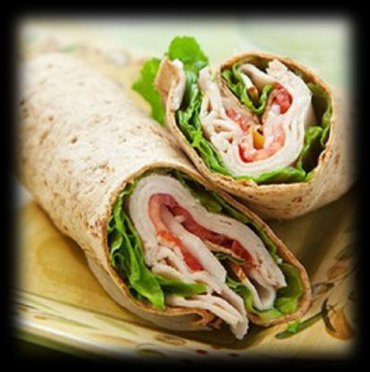 Calories: 498 Fat: 61.5g Carbs: 18.6g Protein: 28.6g Turkey Spring Wraps 4.5 oz of deli turkey meat 2 8 tortilla wraps 1 tablespoon of light mayo 2 curly lettuce leaves 2.