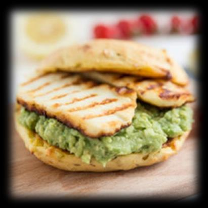 Spread hummus evenly on the inside of a whole wheat pita wrap. Combine deli turkey meat and cucumber inside and serve. Calories: 501 Fat: 51.5g Carbs: 12.6g Protein: 48.