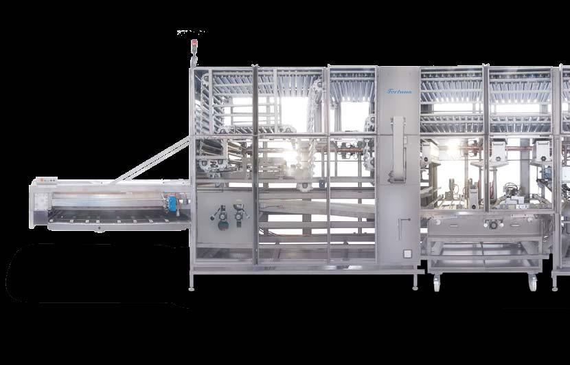 The combined bread roll plant of the type Profiline with long moulding unit, stamping-cutting unit and seeding unit covers all variants of bread roll production: From long rolls with cut to seeded