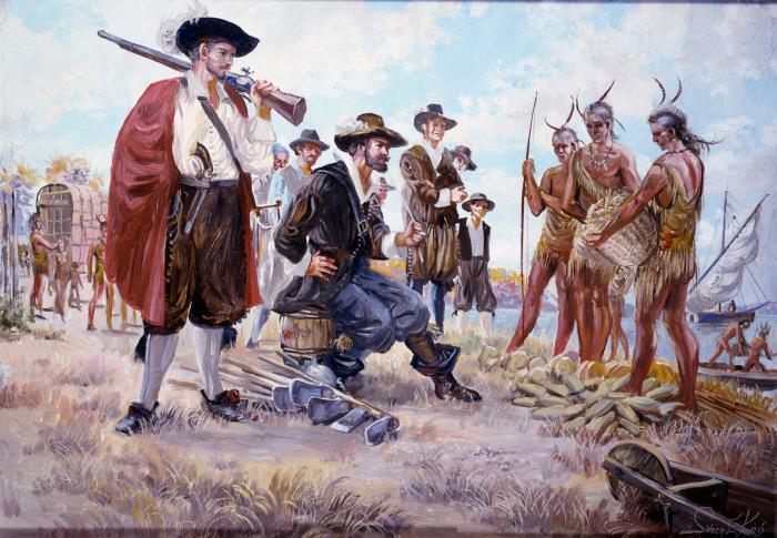 Colonists and Native Americans: An Uneasy Alliance By the Fall of 1607, 50% of the