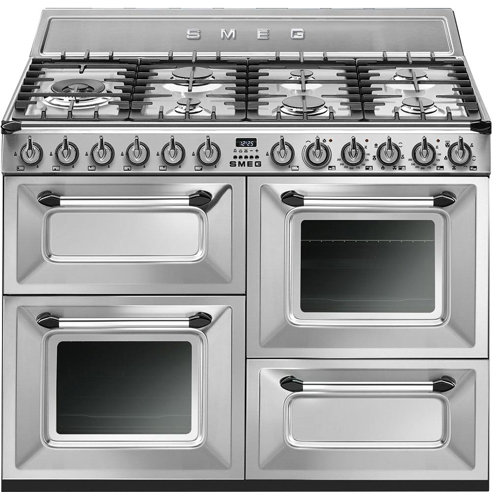"TR4110X 110cm """" Traditional Dual fuel 4 cavity Cooker with Gas hob, Stainless Steel Energy rating AA EAN13: 8017709191009 Special promotion on this model* 5 year guarantee on parts and labour if"