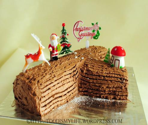 Chocolate Roll Ingredients: Icing 125g butter/soft margarine 250g icing sugar 40g cocoa powder 1 Swiss roll Equipment: Electric whisk Mixing bowl Palette knife Wooden spoon Fork Decoration 1 silver