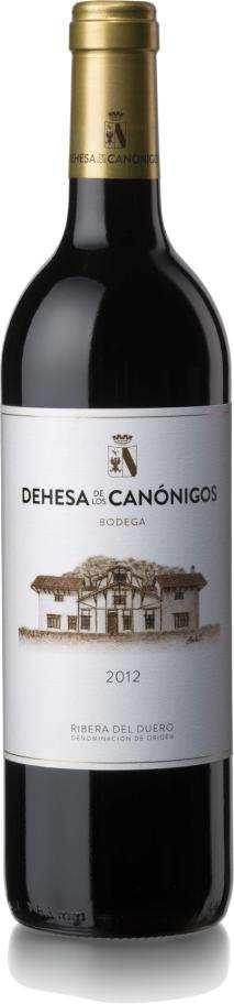 91 90 Production 160.000 bottles of 75 cl. DEHESA DE LOS CANONIGOS CRIANZA 2012 88% Tempranillo 12% Cabernet Sauvignon Barrell ageing 15 months in American oak barrells, medium toast, fine grain.