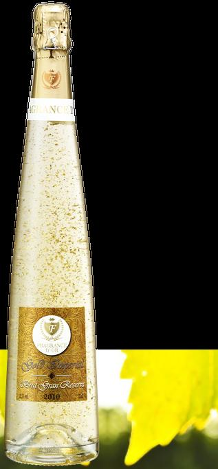 BRUT GRAN RESERVA Viña Fragrance D'or Brut Reserve is a sparkling wine from natural Macabeo, Xarel'lo,