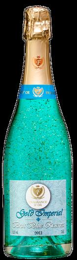BRUT BLUE RESERVE Viña Fragrance D'or Brut Reserve Blue is a sparkling wine from natural Macabeo, Xarel'lo and Parellada, to achieve a sparkling classic but modern at the same time, according to the