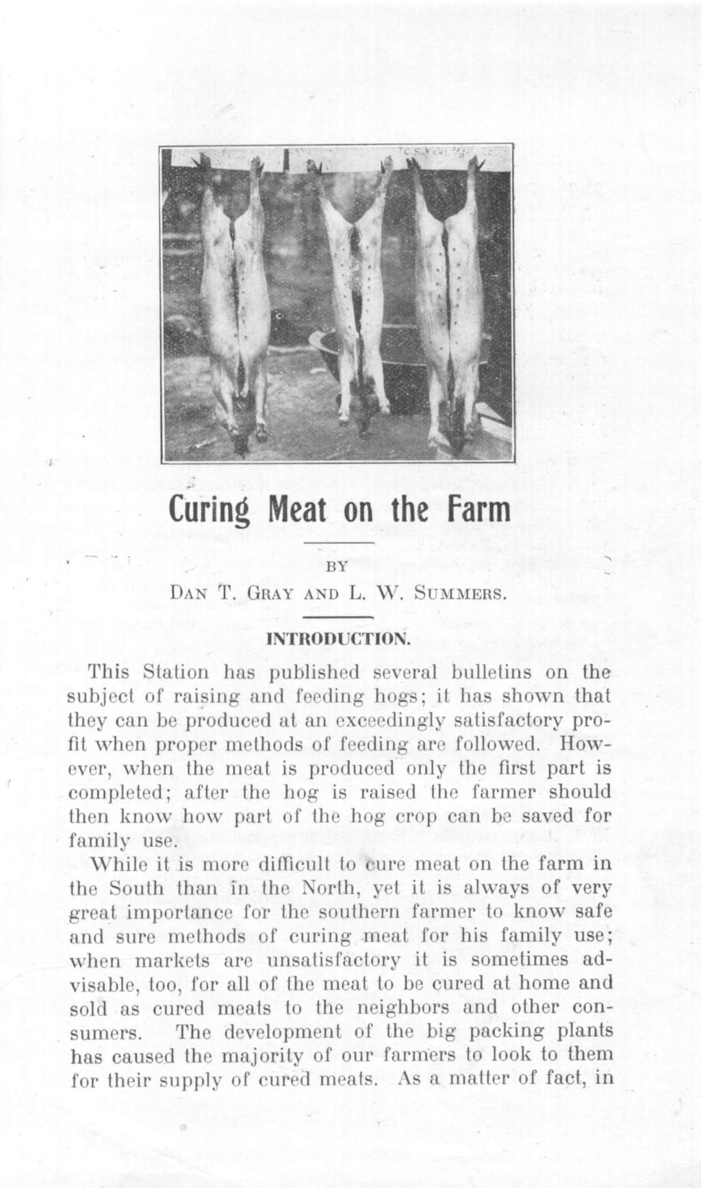 Curing Meat on the Farm I)AN T. (WAYX AND L. WV. Si M\Iii1S.