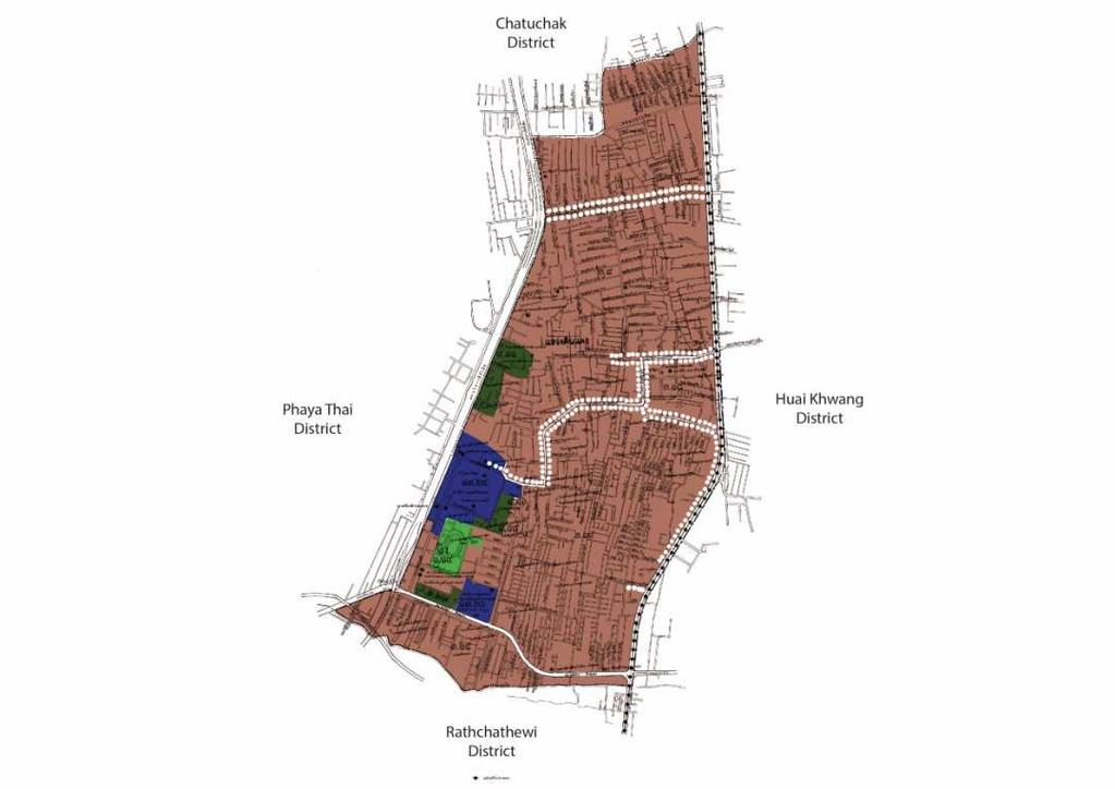 using a comparative study ith comprehensive plan, four districts in angkok ere conducted for analysis as follo s: Din Daen district Din Daeng is one of the main residential one of angkok as it is the
