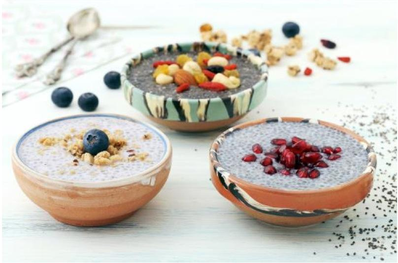Recipes Chai Pudding : 2 servings 4 tablespoons chia seeds 2 tablespoons raw almonds.