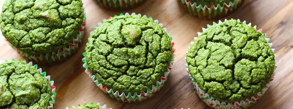 Green Smoothie Muffins 9 ingredients 25 minutes 12 servings 1. Preheat your oven to 350F and line a muffin tin with liners.