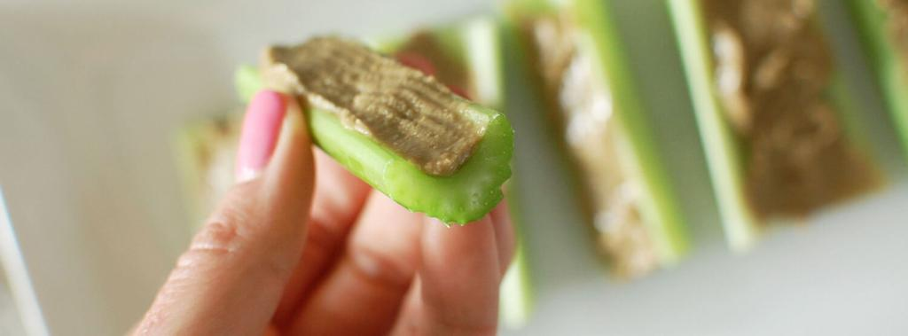 Celery with Sunflower Seed Butter 2 ingredients 5 minutes 8 servings 1.