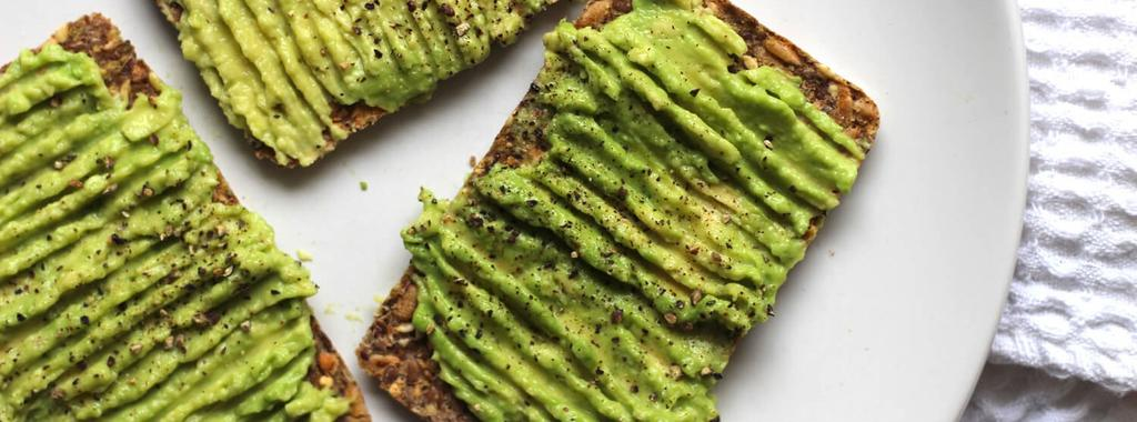 Crackers & Avocado 3 ingredients 10 minutes 4 servings 1. Mash the avocado onto the crackers and sprinkle with salt and pepper to taste. Enjoy!