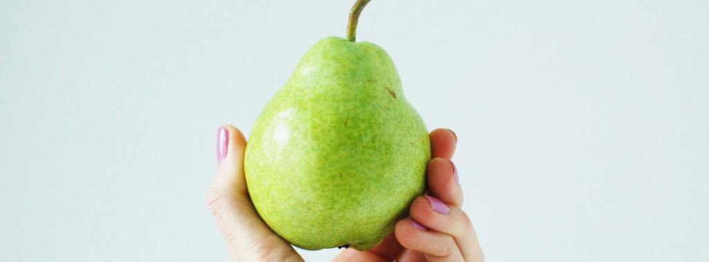Pear 1 ingredient 5 minutes 1 serving 1. Cut pear in half lengthwise.