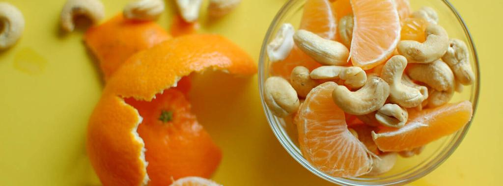 Cashews & Clementines 2 ingredients 5 minutes 2 servings 1.