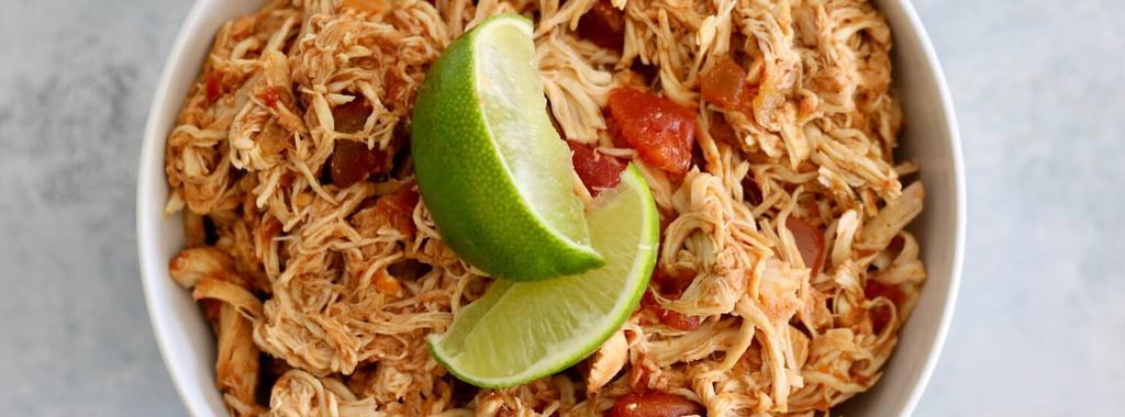 Slow Cooker Salsa Chicken 2 ingredients 4 hours 4 servings 1. Place chicken breasts in the slow cooker and cover them with salsa.
