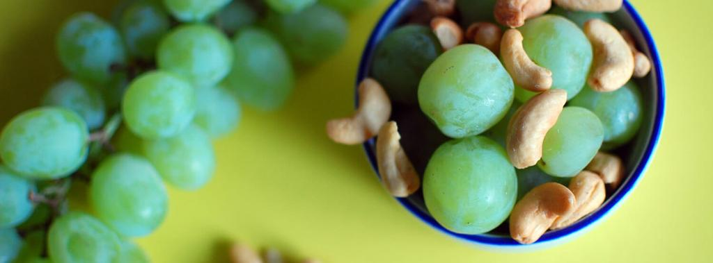 Grapes & Cashews 2 ingredients 2 minutes 1 serving 1.