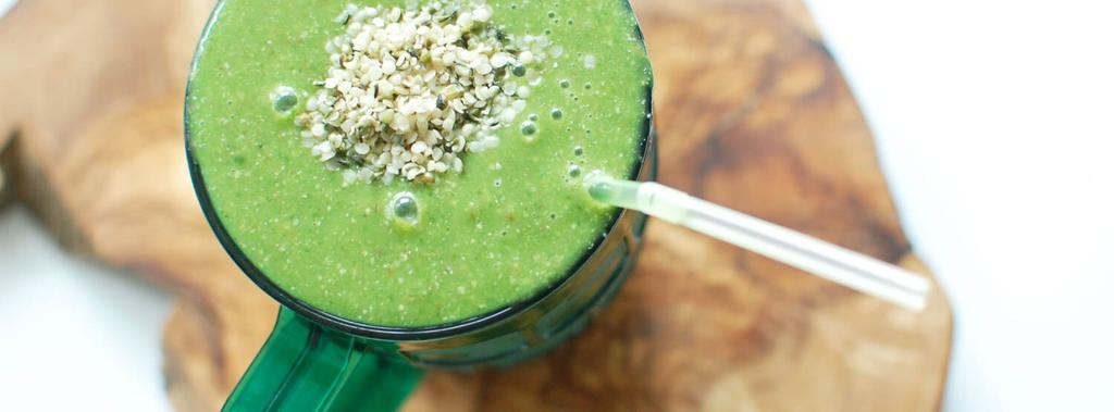 Lucky Green Smoothie 6 ingredients 10 minutes 4 servings 1. Throw all ingredients into a blender. Blend well until smooth. Divide into glasses and enjoy!