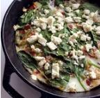 Egg White Frittata 2 tablespoons olive oil 1 red pepper, chopped 1 green pepper, chopped 1/4 yellow onion, chopped 1 teaspoon kosher salt 1 teaspoon black pepper 8 egg whites (either separated
