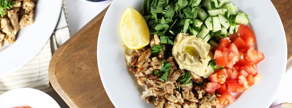 Slow Cooker Chicken Shawarma 14 ingredients 4 hours 4 servings 1. In the slow cooker combine the lemon juice, olive oil, garlic, salt, pepper, cumin and cayenne pepper. Mix well.