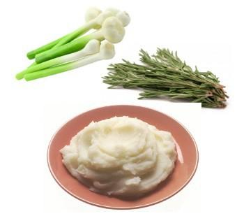 Mashed Potatoes with Rosemary and Leeks Ingredients 2 pounds potatoes, unpeeled 4 tablespoons nonfat sour cream 2 tablespoons nonfat milk 1 tablespoon chopped rosemary or 1 teaspoon dried rosemary 1