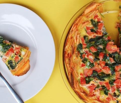 Potato Quiche Crust with Sweet Potato