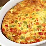 DAY 2 SMALLER FAMILY HEALTHY PLAN OVEN BAKED OMELET M A I N D I S H Serves: 4 Prep Time: 10 Minutes Cook Time: 45 Minutes Calories: 338 Fat: 23.7 Carbohydrates: 8.5 Protein: 23.6 Fiber: 1.