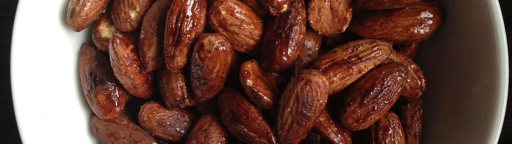 Maple Roasted Almonds #snack #eggfree #paleo #vegetarian #vegan #glutenfree #dairyfree 3 ingredients 10 minutes 4 servings 1. Place almonds in a frying pan and toast over medium heat.