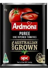 Perfect for soups, casseroles and quick pasta sauces, Ardmona Crushed tomatoes are