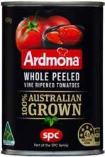 ARDMONA WHOLE PEELED TOMATOES Delicious in home made pasta sauce, or in dishes