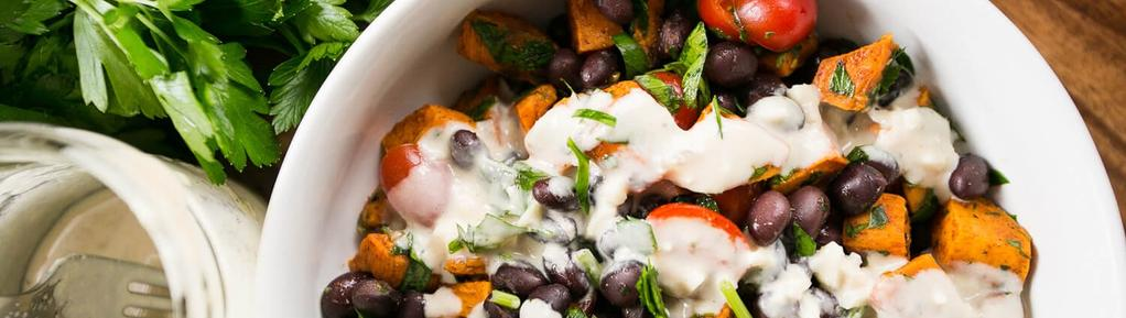 Sweet Potato & Black Bean Salad #dinner #lunch #eggfree #nutfree #vegan #vegetarian #glutenfree #dairyfree #paleo 13 ingredients 25 minutes 4 servings 1. Preheat the oven to 400.