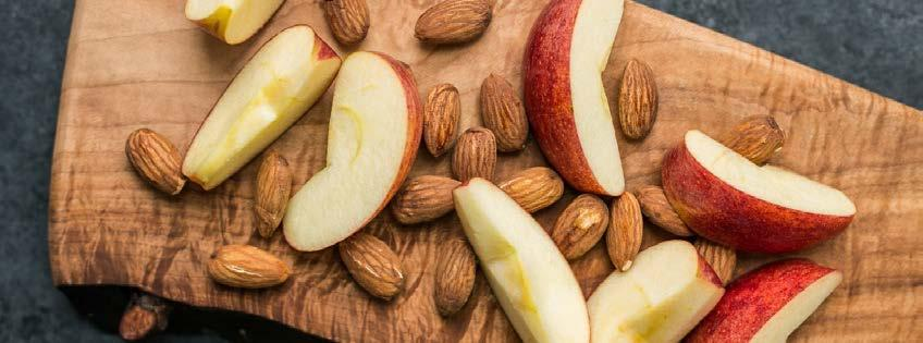 Apples & Almonds 2 ingredients 5 minutes 1 serving 1.