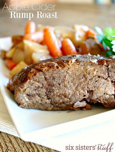 DAY 7 APPLE CIDER RUMP ROAST M A I N D I S H Serves: 8 Prep Time: 10 Minutes Cook Time: 7 Hours 1 cup apple cider 3 Tablespoons tomato paste 2 Tablespoons flour 2 Tablespoons Worcestershire sauce