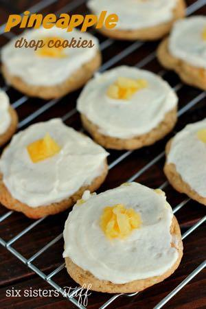 PINEAPPLE DROP COOKIES WITH PINEAPPLE BUTTER CREAM FROSTING D E S S E R T Serves: 36 Prep Time: 10 Minutes Cook Time: 10 Minutes 1 cup brown sugar 1 cup sugar 1 cup butter flavor shortening 2 eggs 1