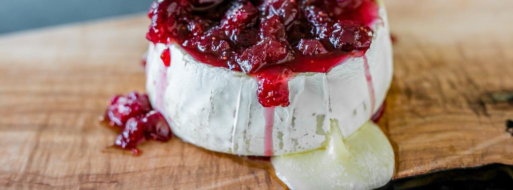 Baked Brie with Cranberry Sauce 2 ingredients 20 minutes 6 servings 1. Preheat oven to 325 F (165 C) and line a baking sheet with parchment paper.