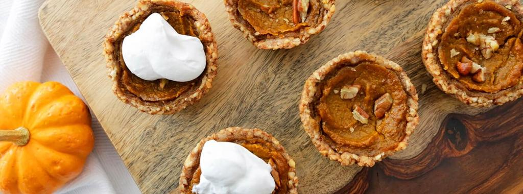 Sweet Cheats by Nicole Pumpkin Pie Tarts with Coconut Whipped Cream 13 ingredients 1 hour 30 minutes 12 servings 1. Pulse the almonds and cashews in a food processor.
