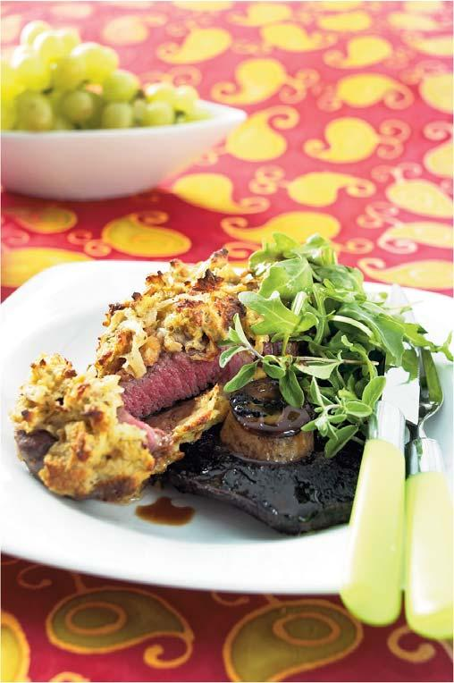 Eye Fillet Coated in Potato Crust Serves: 4 Preparation Time: 15mins Cooking Time: 8mins 1 x 35g sachet McCormick Italian Herb Potato 4 x 180g eye fillet steaks 1 cup coarsely crushed toasted