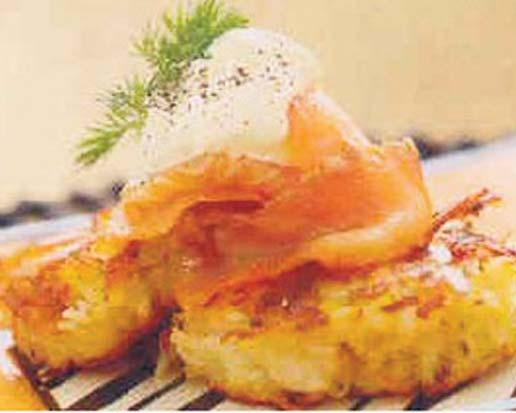 Potato Roesti Serves: 4-6 Preparation Time: Cooking Time: 5 medium potatoes, peeled, parboiled and cooled McCormick Produce Partners Italian Herb Potatoes 1 egg 50g soft butter 2 tbsp oil 1.