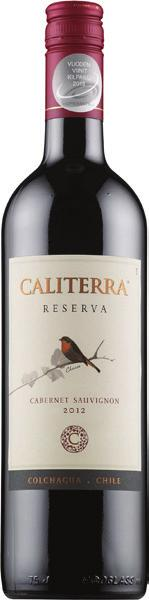 Caliterra Reserva Cabernet Sauvignon, Chile This wine features light floral aromas, berry fruit and eucalyptus, with background notes of toast and spice.