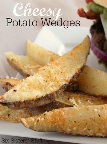 GLUTEN FREE- CHEESY POTATO WEDGES S I D E D I S H Serves: 4 Prep Time: 2 Minutes Cook Time: 10 Minutes 3 Medium Russet Potatoes 1/4 cup shredded Parmesan cheese 1 teaspoon garlic salt 1 Tablespoon