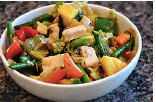 Fastest Chicken Stir Fry Servings: 6 1 tsp. olive oil 1 tsp.