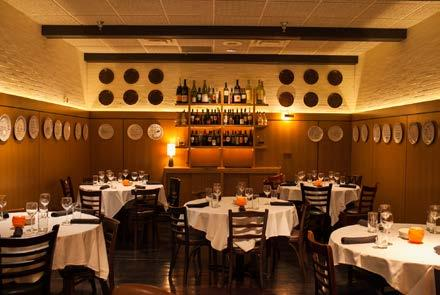 style, bar in room Big Frankie s 70 guests seated ~ 85 guests reception style Scaloppine Room 130