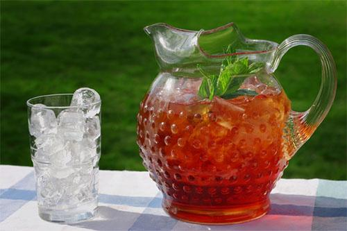 SUN SWEET TEA 4-6 tea bags 12 cups water Place tea bags into a clear 2 quart glass pitcher. Fill with water and cap.