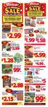 oz. pkgs. Fancy Greens Leafy Greens I.99 $ I $ 2.88 $ 2.15 $ 5 $ I.88 $ 6. Field Sliced Bacon 12 oz. pkg. SAVE $I.99 $2.