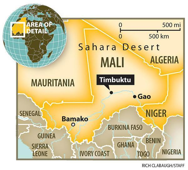 Libraries Of Mali Caption A Map Of Mali Showing The Famed City Of