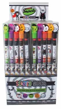 monster marsh halloween smencil sets of 5 display holds 20 sets set contains 1