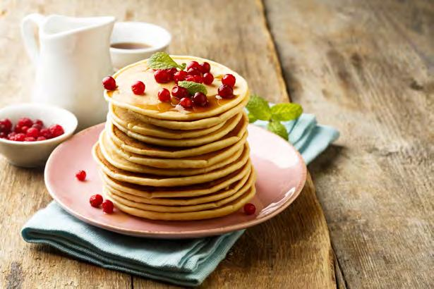 cranberries 33 Fresh Cranberry Pancakes Makes 4 pancakes Approximately 20 minutes ½ cup fresh cranberries ¼ cup all-purpose flour 3 tbsp. whole-wheat flour 1 tbsp. yellow cornmeal ½ tsp.