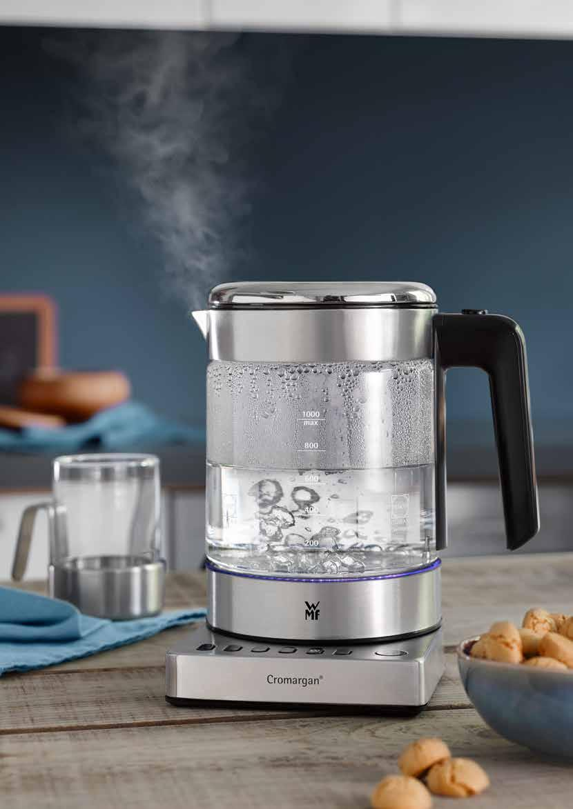 URBAN LIFESTYLE with WMF Put on, let steep, enjoy. Water and tea at the perfect temperature. The optimal power mix for beverackes.