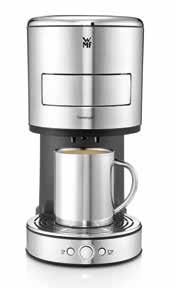 8 l filling capacity Separate hot water outlet WMF Eco Energy: Standby and automatic shutoff 1,600 watts of power An extra slow grinding process for particularly gentle grinding (aroma protection)