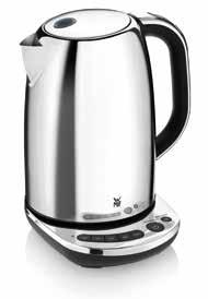 and locking lid TERRA Kettle 1.6 l Item no. 04 1305 0021 EAN 4211129 872607 Cromargan polish Max. 3.000 watts of power Capacity: 1.6 l Cordless kettle with separate base incl.